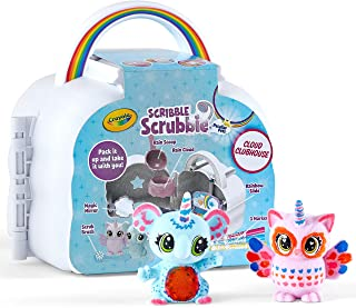 Crayola Scribble Scrubbie Cloud Clubhouse Set, Washable Pet Figurines, Portable Travel Toy for Kids, Colour, Rinse and Re-...