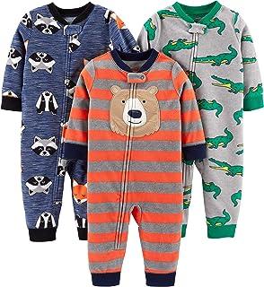 Simple Joys by Carter's Loose-Fit Fleece Footless Pajamas Niños, Pack de 3