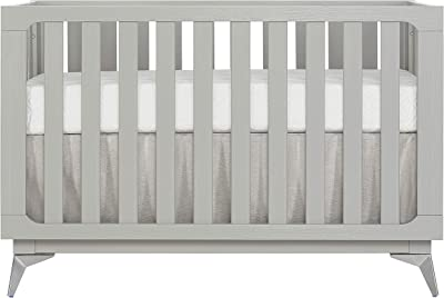 Sweetpea Baby Ultra Modern II 4 in 1 Convertible Crib in Brush Pebble Grey