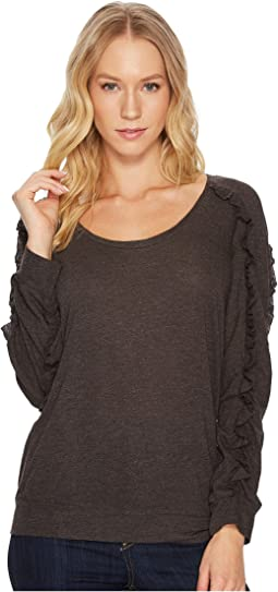 Lanston - Ruffle Long Sleeve Pullover Top