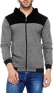V3Squared Men's Cotton Full Sleeve Zipper Hooded T-Shirt