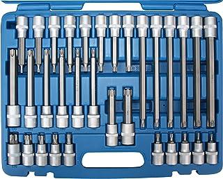 SW-Stahl 04423L Schraubendreheinsätze, 12,5 mm 1/2 Antrieb, T-Profil, T20-T70, 32-teilig