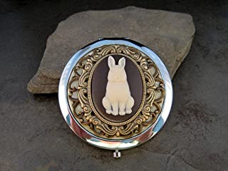 Handmade Victorian Bunny Compact Mirror