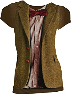 T-Shirt # Xl Ladies Brown # 10Th Doctor Stonehenge