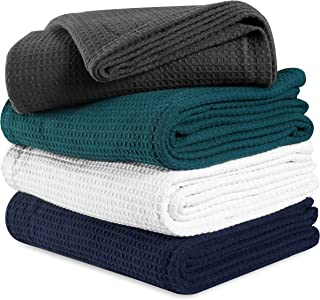 All season Cotton Thermal Blanket in Waffle Weave -Perfect for Layering Any Bed,Charcoal color Size 60x90 inch,Light Thermal Blankets,Twin Thermal Blankets,Breathable Blanket,Twin Thermal Blankets