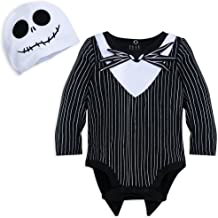 Disney Jack Skellington Costume Bodysuit with Hat for Baby Size 6-9 MO Multi