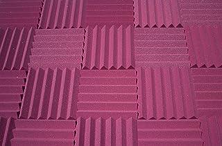 اسفنج عازل للصوت في الاستوديو - لون خوخي - الواح اسفنج هرمي لعزل الصوت، الواح مقاس 12 × 12 × 2 انش - 4 قطع