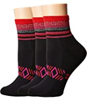HUE - Mini Crew Socks with Cushion 3-Pack
