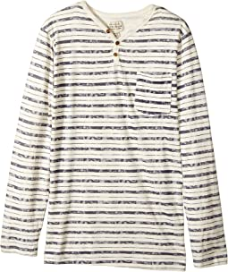 Lucky Brand Kids - Long Sleeve Stripe Pocket Tee (Big Kids)