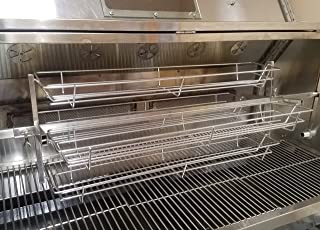 Smoke Daddy Inc. 4ft Length Spit Roaster Rotisserie Style Baskets for Up to 1