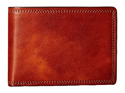 Bosca Dolce Collection Small Bifold Wallet (Amber) Bi-fold Wallet