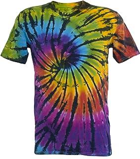 Tie Dye Contrast Rainbow/Black Spiral 701704 Herren T-Shirt