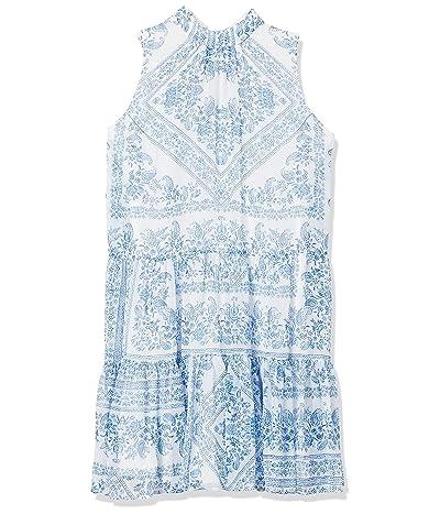 Calvin Klein Petite Mock Neck Dress With Back Neck Tie
