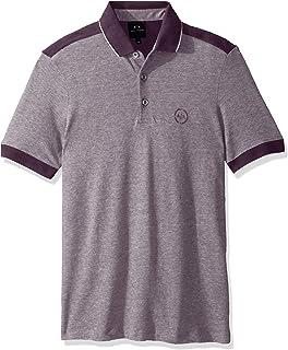 قميص بولو قصير ايه|اكس من مع خطوط على الاكمام من ارماني اكستشنج