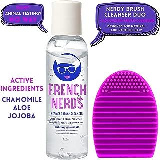 French Nerds Makeup Brush Cleaner and Brush Egg, 2oz