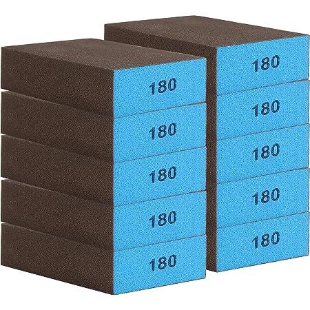 Dbreaks 10er Schleifschwamm Schleifblock Grob Trockenschleifblock Korn 60 10 7 2 5cm Geeignet Für Schleifen Und Polieren Entfernen Von Metallrost Usw Baumarkt