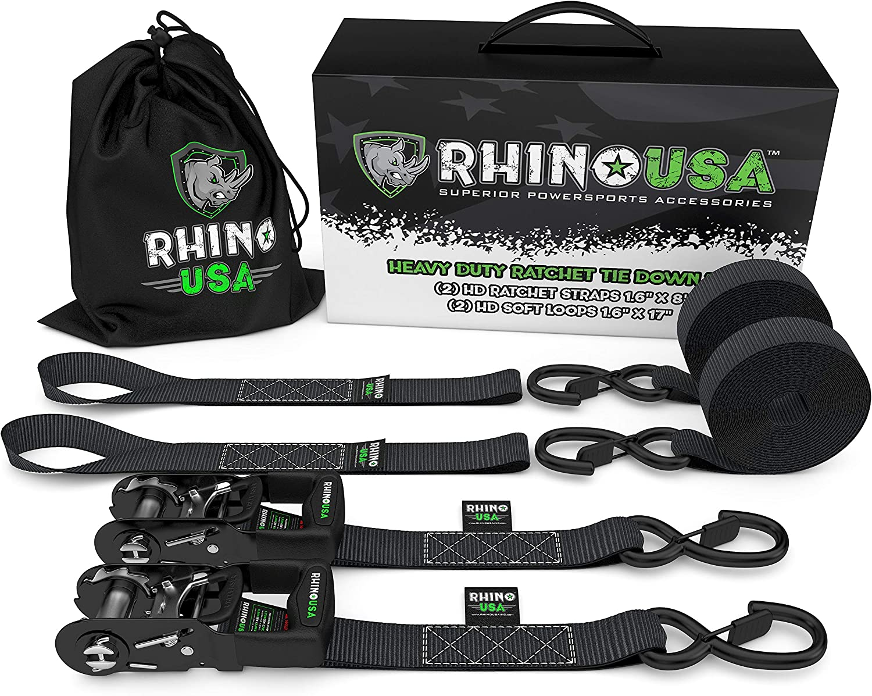 Rhino USA Ratchet Straps Motorcycle Tie Down Kit