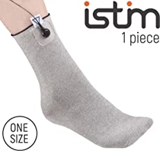 iStim Conductive Sock Package (Including Electrodes Pads) for electrotherapy, Massage - Compatible with TENS/EMS Machine Units - Silver Thread (1 Piece)