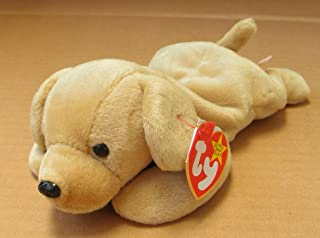 TY Beanie Babies Fetch the Golden Retriever Dog Stuffed Animal Plush Toy - 8 inches long