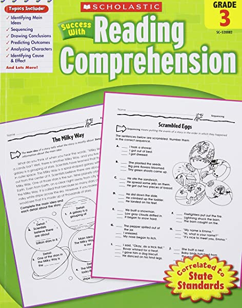 Scholastic Success With Reading Comprehension Grade 3