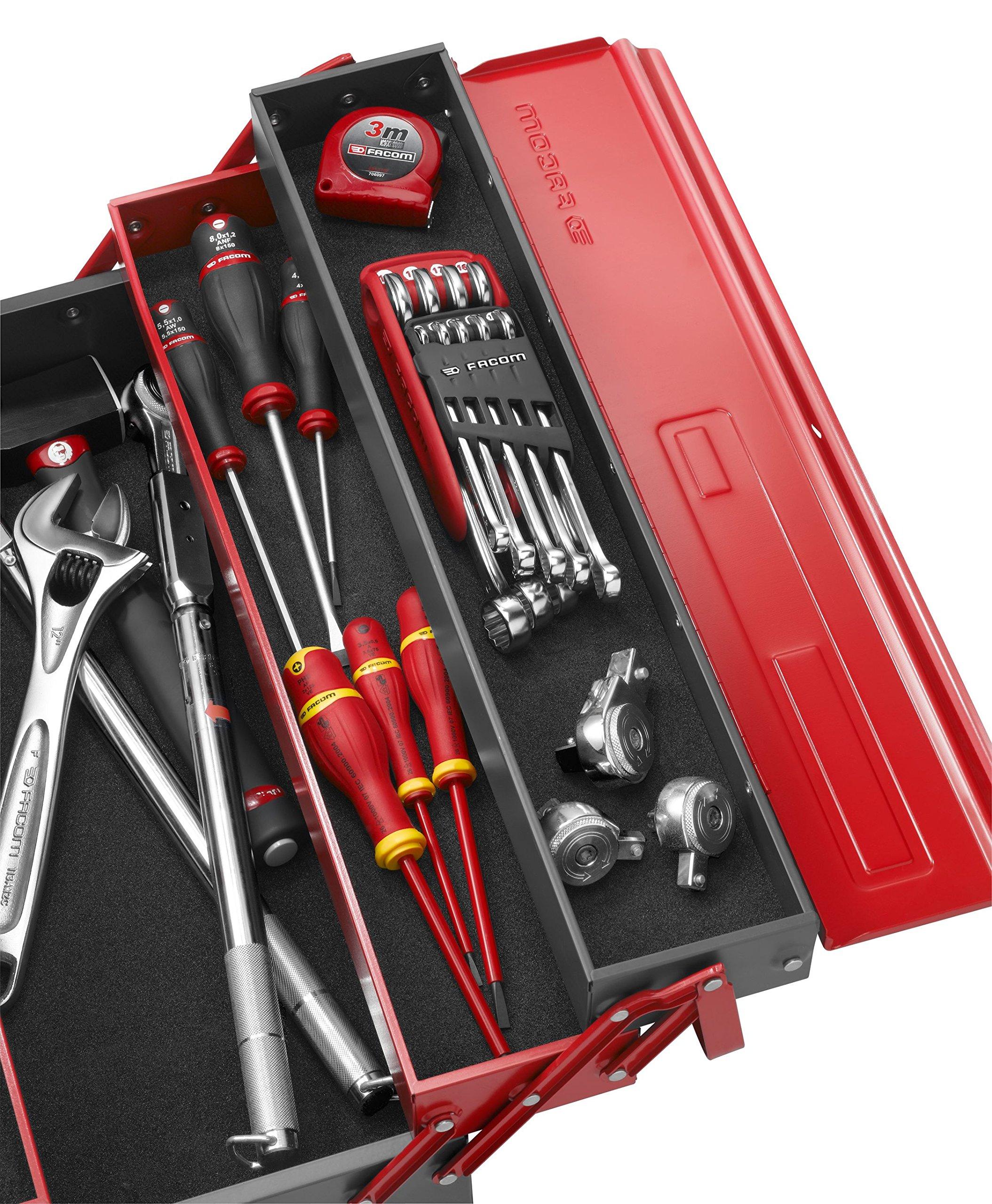 Facom BT.11A Caja metálica, 5 compartimientos: Amazon.es: Bricolaje y herramientas