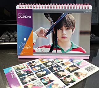 BTS Desk Calendar 2020-2021 with Stickers Set (V)