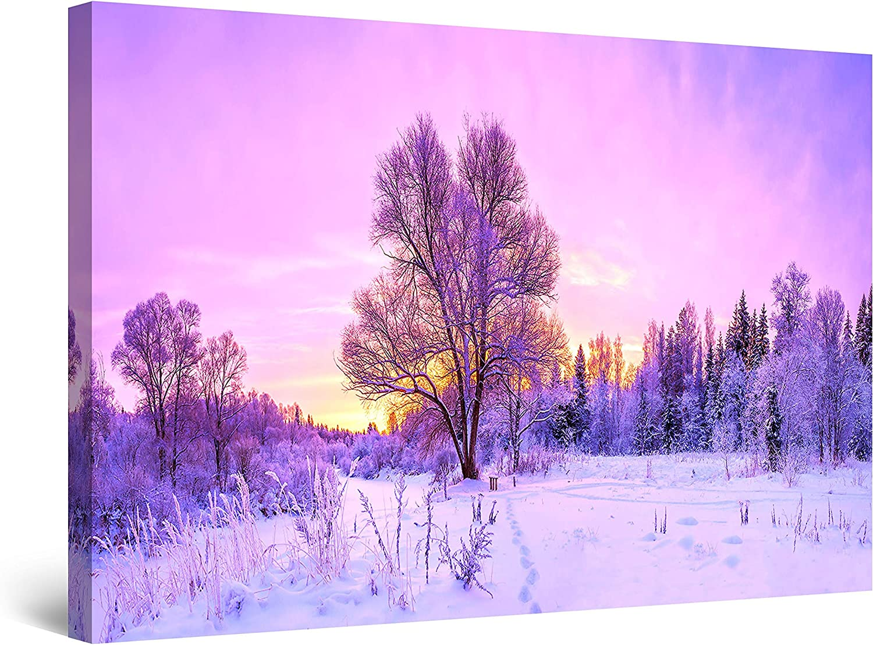 Startonight Canvas 日本未発売 Wall Art 豪華な Abstract Sunrise - Purple Lan Winter
