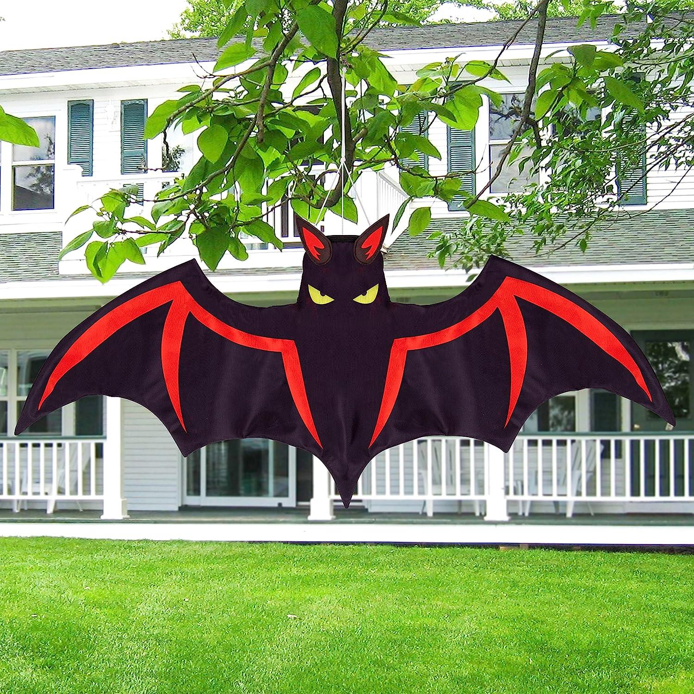 Jpfezry Halloween Decorations Outdoor Bat Windsock Decor - Outside Yard Tree Porch Hallowmas Bats Hanging Wind Socks Party Decor Supplies