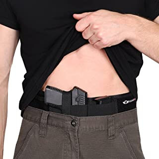 CCW Tactical IWB Belly Band Holster Concealed Carry Multiple Positions, Ultimate Comfort Handgun Holder with Spare Mag Pouch, Fastest Draw Speed, Men and Women, Pistols and Revolvers, XL