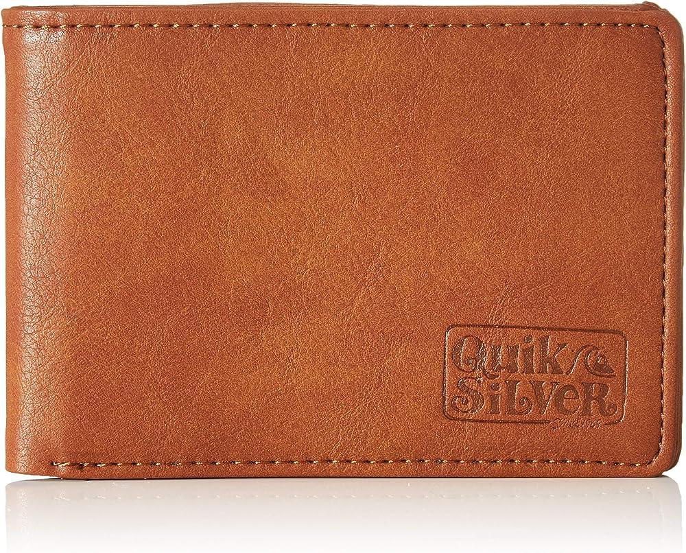 Quiksilver slim folder, portafogli da uomo, porta carte di credito, in ecopelle EQYAA03944