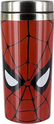 Preisvergleich für DC Universe Marvel Comics Spiderman Thermobecher, Edelstahl, Multi, 8 x 8 x 18 cm
