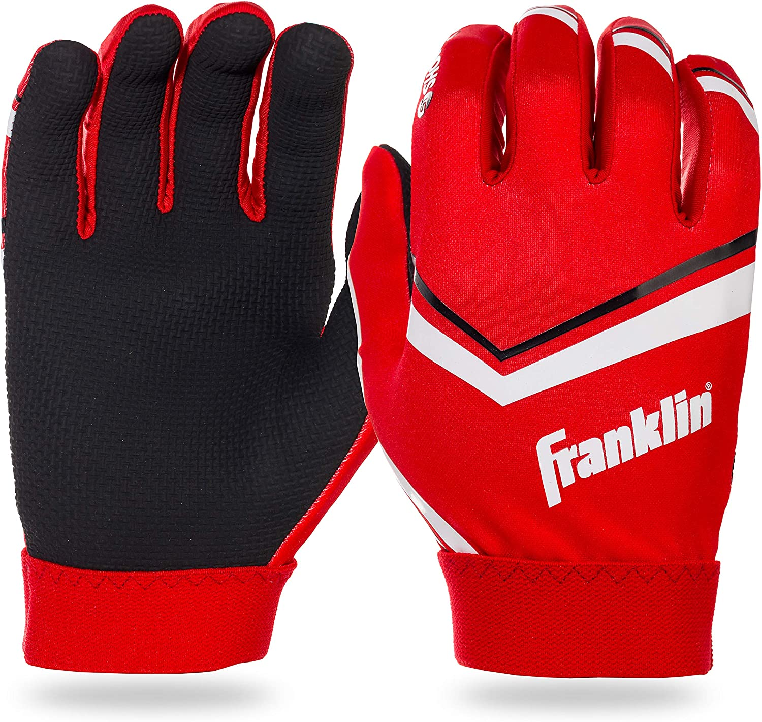 Franklin Sports NFL Youth Football Receiver Gloves Pair New Orleans Saints M