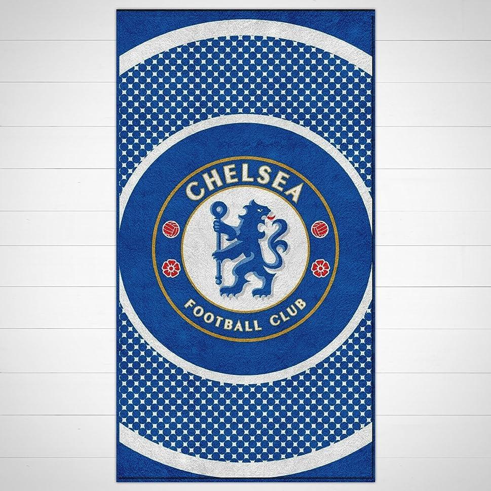 眠いですお誕生日ホストチェルシーFC ' Bullseye 'フットボールプリント公式ビーチタオルブランド新しいギフトホーム製品