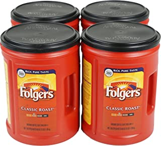 Folgers Medium Roast Coffee, Classic, 3 Pound (Pack of 4), 48 Ounce
