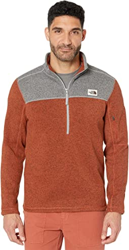 74de7dc54 The north face novelty gordon lyons 1 4 zip cardinal red grizzly ...