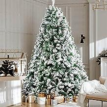 Christmas Tree 1.8M 6FT Jingle Jollys Faux Snowy Tree Xmas Decorations Home Indoor School Mall Store (758 Snow-Sprayed PVC...