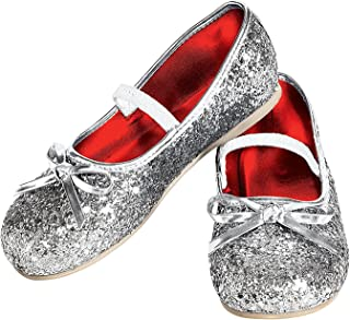 Rubie's Costume Silver Glitter Child Flat Shoes Small [並行輸入品]