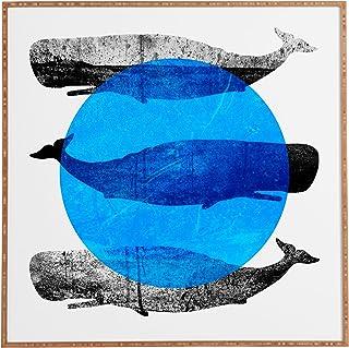 "Deny Designs Elisabeth Fredriksson, Whales, Framed Wall Art, Large, 30"" x 30"""