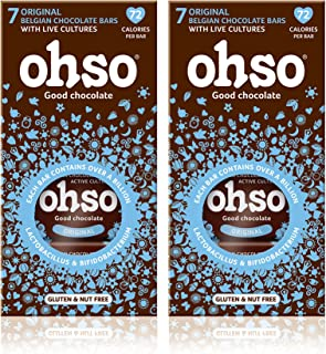 comprar comparacion Ohso Healthy Dark Chocolate Bars Original Flavour Gluten Free (14 bars in total) by Ohso