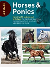 Art Studio: Horses & Ponies:More than 50 projects and techniques for drawing and painting horses and ponies in pencil, acrylic, watercolor, and more!