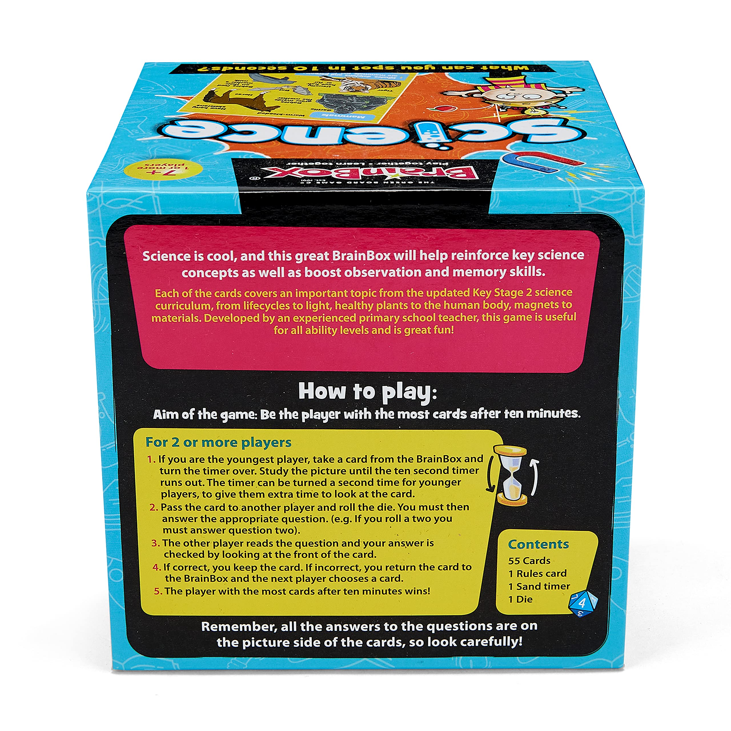 The Green Board Game Co BrainBox - Science - Card Game (Supports Key Stage 2 – Ages 7-11)