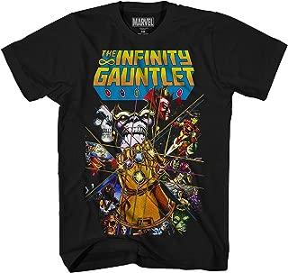 Marvel Thanos Avengers Infinity War Gauntlet Hulk Spider-Man Iron Man Strange Adult Men's Graphic Tee T-Shirt Apparel