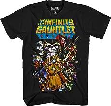 Marvel Thanos Avengers Infinity War Gauntlet Hulk Spider-Man Iron Man Strange - Camiseta para Hombre Adulto