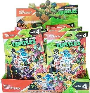 TMNT Teenage Mutant Ninja Turtles Series 4 Complete Case of 24 Blind Bag Action Figures Donatello Leonardo Raphael Michaelangelo Baxter Stockman Tiger Claw Karai Red Foot Soldier