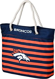 FOCO NFL Nautical Stripe Tote Beach Bag