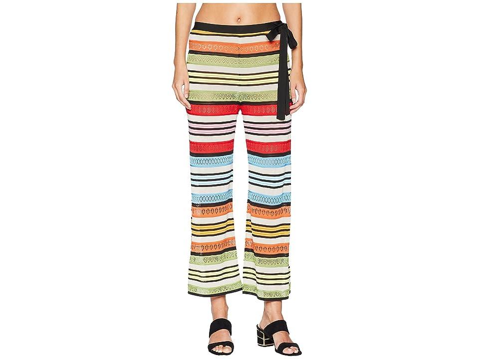 Mary Katrantzou Rego Trousers Fira Stripe Knit (Multi) Women