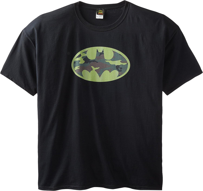 DC Comics Men's Big-Tall Batman Camo Logo T-Shirt