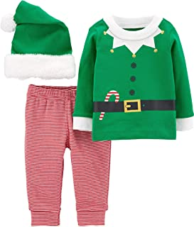 Baby 3-Piece Christmas Outfit, Shirt, Pants, and Hat Set