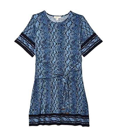 MICHAEL Michael Kors Plus Size Snake Border Tie Dress (Chambray) Women