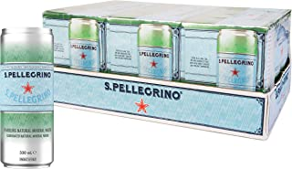 Sanpellegrino Sparkling Natural Mineral Water Can, 24 x 330 mL